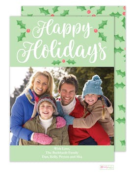 Holly Holidays Digital Photo Card