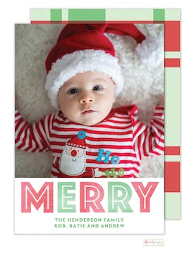 Big Merry Digital Photo Card