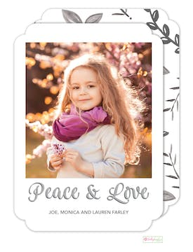 Winter Peace Digital Photo Card