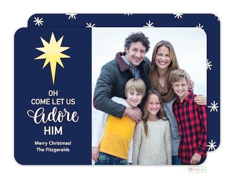 Let Us Adore Him Digital Photo Card