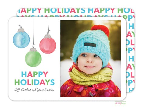 Holiday Baubles Digital Photo Card