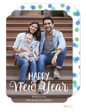 New Year Wishes Digital Photo Card