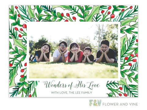 Happy Greenery Digital Photo Card