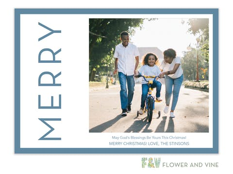 Merry Side Digital Photo Card