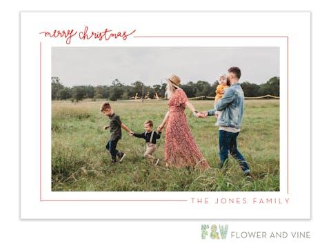 Merry Christmas Border Digital Photo Card