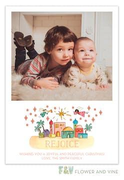 Bethlehem Scene Digital Photo Card
