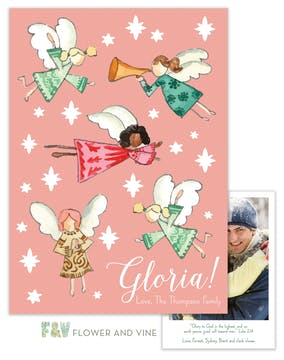 Gloria Angels Digital Photo Card