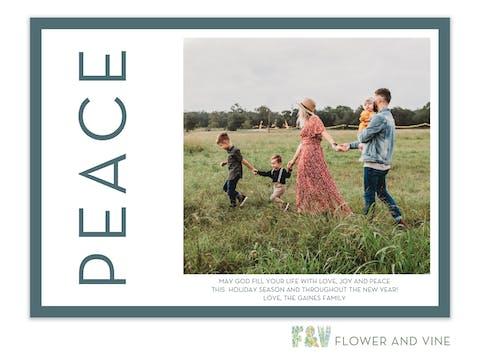 Peace Side Digital Photo Card