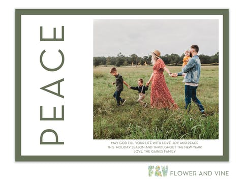Peace Side Digital Photo Card