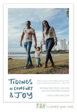 Comfort and Joy Digital Photo Card