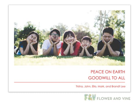 Peace on Earth Digital Photo Card