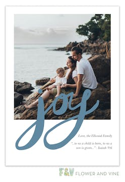 Hand Lettered Joy Digital Photo Card