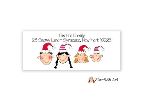 Personalized Character Return Address Label