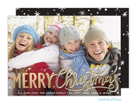 Bright Merry Christmas  Holiday Photo Card