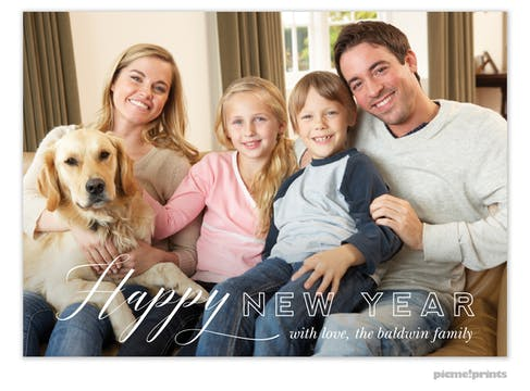 Happy New Year Holiday Photo Card