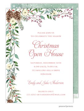 Woodland Flora Invitation
