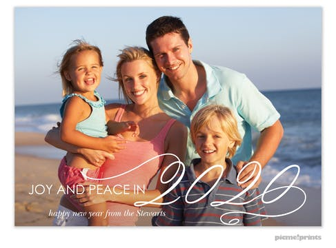 Big New Year Holiday Photo Card