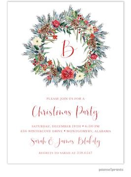 Holiday Wreath Invitation