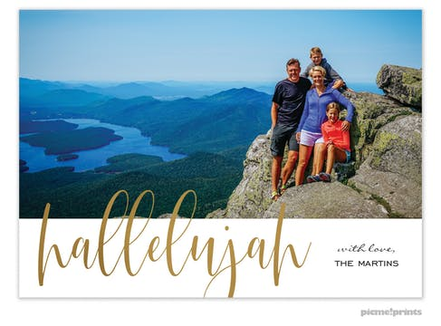 Hallelujah Holiday Photo Card
