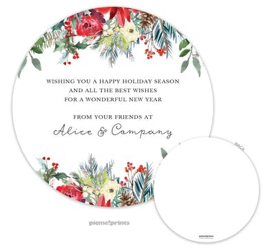 Round Winter Garden Invitation