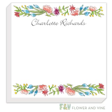 Colorful Spring Florals Notepad