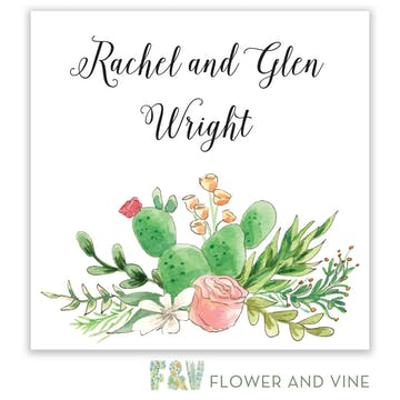 Rose and Cactus Gift Sticker