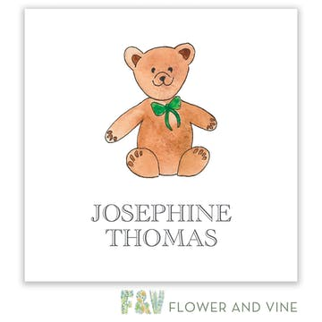 Floral Bear Gift Sticker