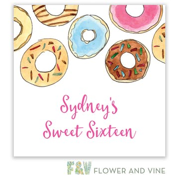 Donuts Gift Sticker