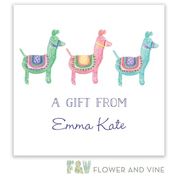 Lots of Llamas Gift Sticker