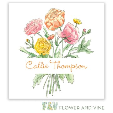 Fresh Bouquet Gift Sticker