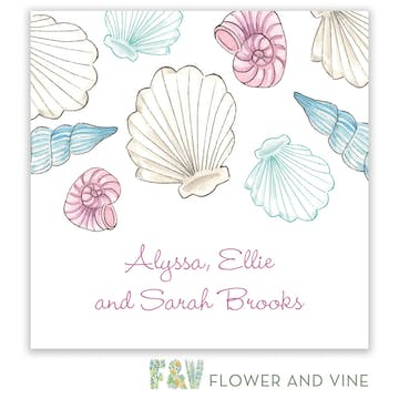 Seashells Gift Sticker