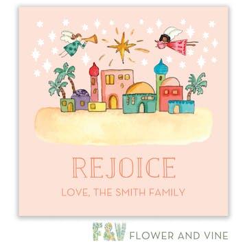 Bethlehem Scene Gift Sticker