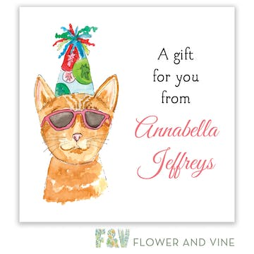 Party Cat Gift Sticker