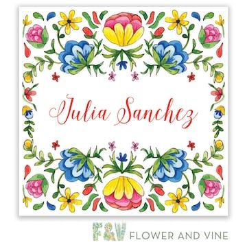 Floral Fiesta Gift Sticker