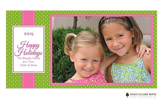 Jolly Holiday-Pink Flat Photo Card
