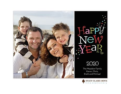 Happy New Year Flat Photo Card
