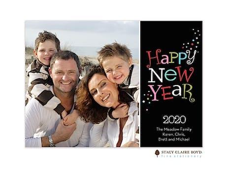 Happy New Year Flat Photo Card