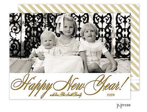 New Year Holiday Flat Photo Card