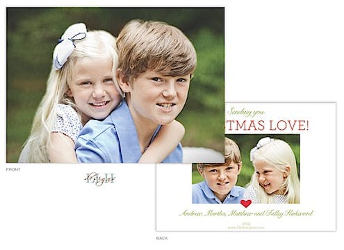 Sending Christmas Love Holiday Flat Photo Card