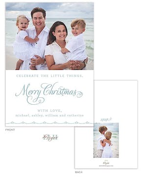 Celebrate The Little Things Holiday Flat Photo Card