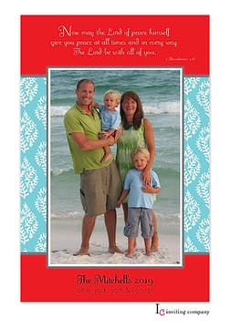 Lord of Peace Holiday Flat Photo Card