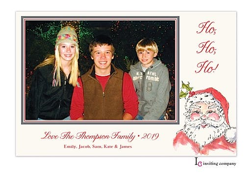Jolly St. Nick Holiday Flat Photo Card
