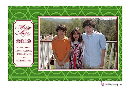 Green Trellis Holiday Flat Photo Card