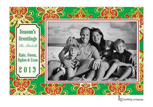 Jolly Couture Holiday Flat Photo Card