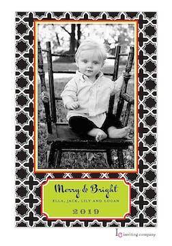 Snow Diamond Holiday Flat Photo Card