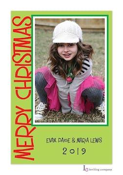 Christmas Lime Holiday Flat Photo Card