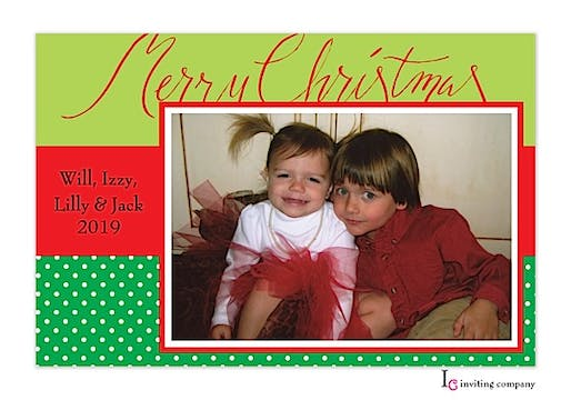 Christmas Holiday Flat Photo Card