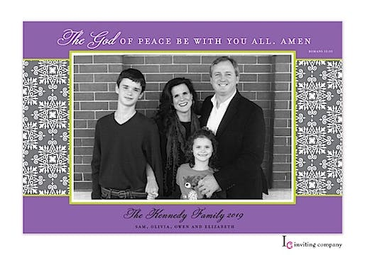 All Peace Holiday Flat Photo Card
