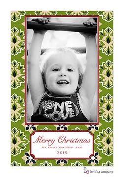 Evergreen Glory Holiday Flat Photo Card