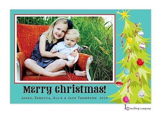 Jingle Tree Holiday Flat Photo Card